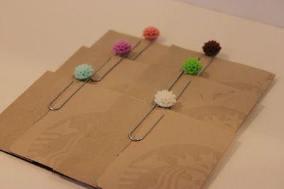 Fancy paper clips - great for teacher appreciation!