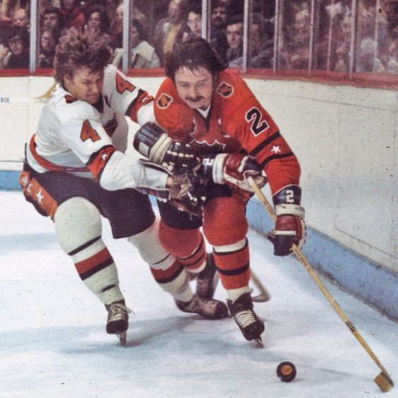 Bobby Orr and Brad Park in NHL All-Star game.