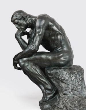 Auguste Rodin (1840 - 1917), LE PENSEUR, TAILLE DE LA PORTE DIT MOYEN MODÈLE