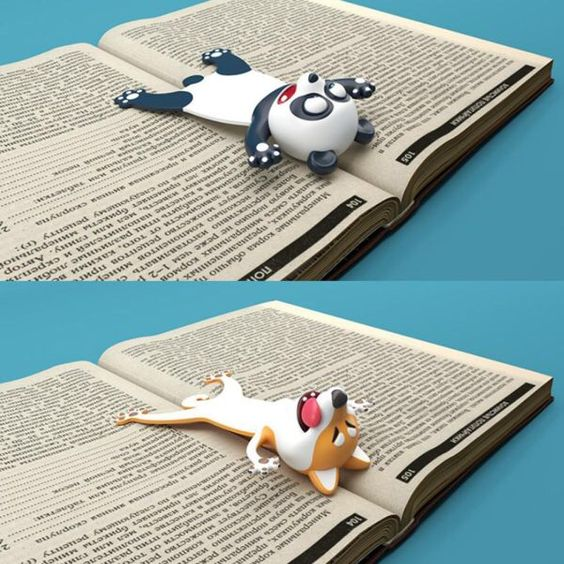 US $4.55  33% Off | 3D Stereo Bookmark, Cartoon Novelty Animal Bookmark Original Cute PVC Party Favors Birthday Students Teens Gift For Reading