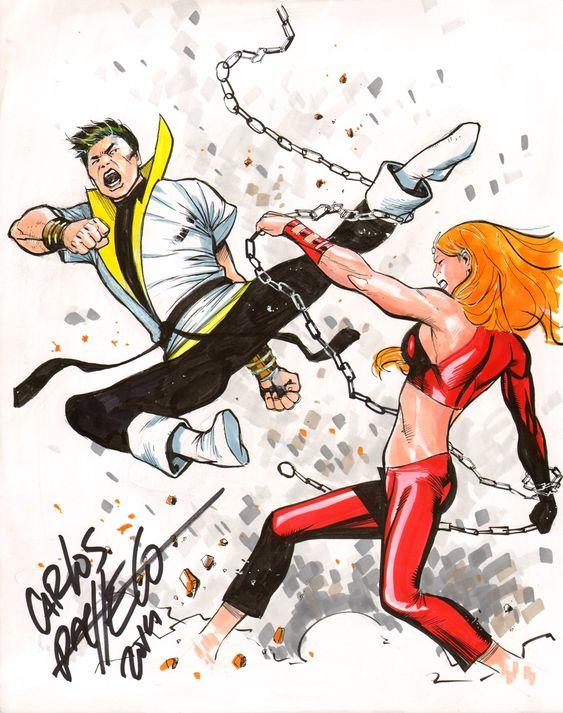 Karate Kid vs. Thundra by Carlos Pacheco