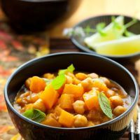 Chickpea and Sweet Potato Curry with Fresh Herbs