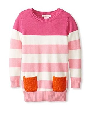 Design History Girl's Stripe Tunic with Sequin Pockets (Sfh)
