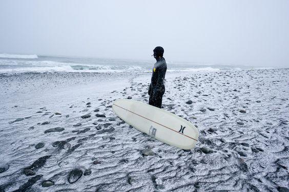 Chris Burkard #iceland #surf Cold water surfing, winter surf, surf en eau froide