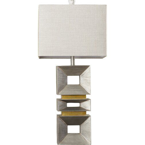 Sargent 35 Palladium Silver Table Lamp Silver Table Lamps Table Lamp Contemporary Table Lamps