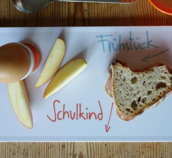 Frühstück für das Schulkind // Frühstücksbrettchen von ° aineolleoile ° auf DaWanda.com