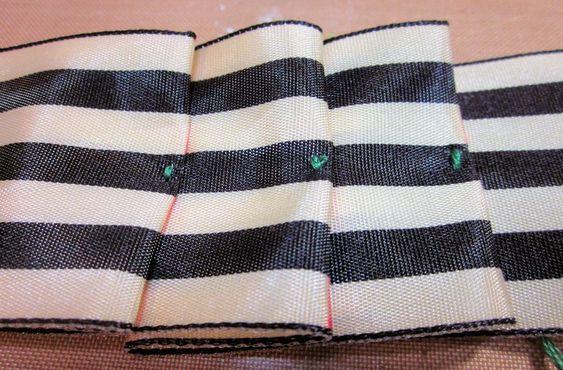 Make a Victorian Style Ribbon Pleat