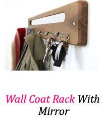 Great entertaining #wallcoatrackwithmirror Find more http://wallcoatrack.org