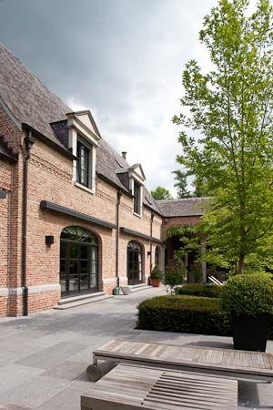 Haus Design in Belgien   Terrasse und Garten