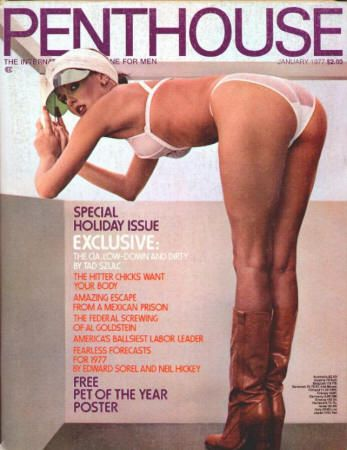 penthouse january 1977 f pet of the year poster with. Black Bedroom Furniture Sets. Home Design Ideas