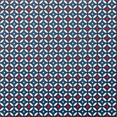 ATW - Dalle de sol PVC auto-adhésive décor imprimé vintage, BLUE CIRCUS