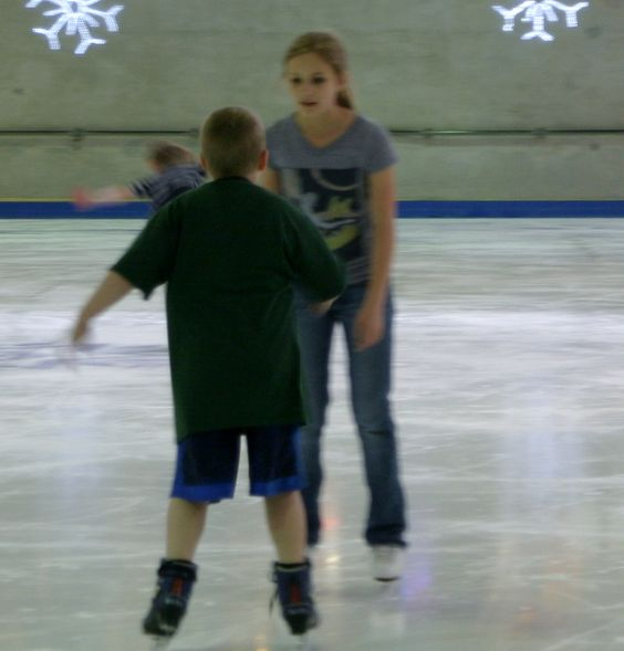 Josh made a friend who has skated since she was 18 months old.