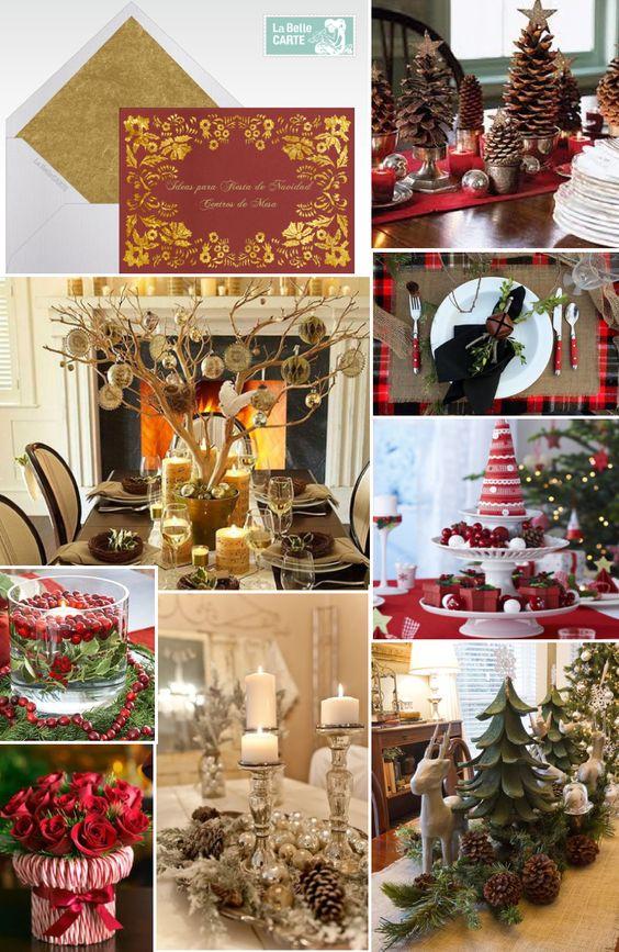 Centros de mesa decoracion tarjetas navidad labellecarte - Decoracion mesa de navidad ...