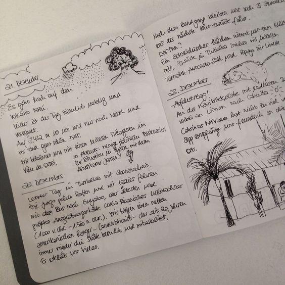#doton #diary auf großer Tour durch #CostaRica. Herzlichen Dank an Susanne für den schönen Blick ins #Tagebuch!  #klebepunkte #Illustrationen #Tagebuch #diy #doton #diary