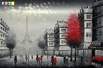 Modern Art - Spaziergang in der Pariser Innenstadt d86060 60x90cm Ölgemälde