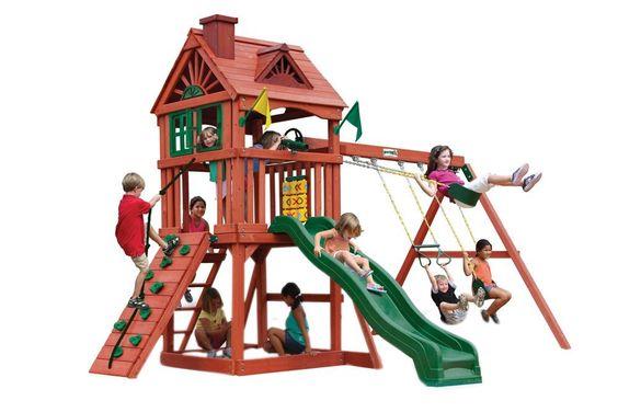Amazon Backyard Playsets amazon: gorilla playsets nantucket swing set: toys & games
