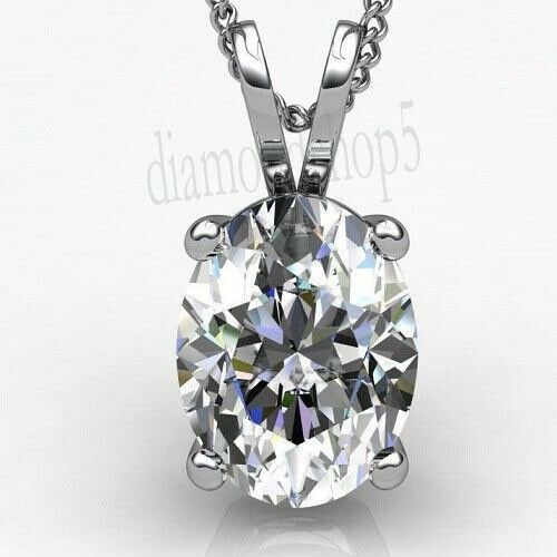 925 Sterling Silver 1.57 Ct Near White Pear Genuine Moissanite Beautiful Pendant