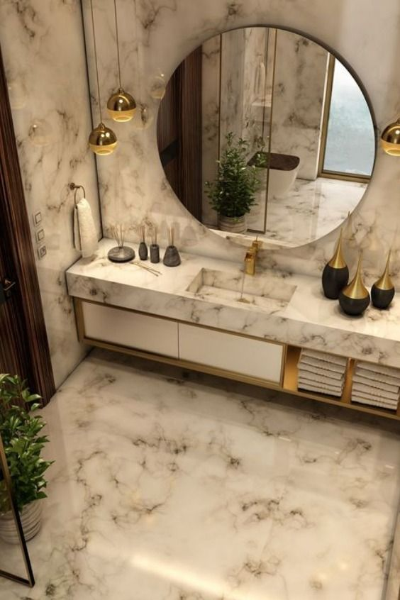 Perfect Marble Details And Ideas For Bathroom Designs Modern
