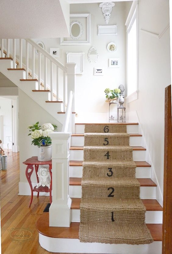 DIY Jute Stair Runner | B Vintage | Pinterest | Runners, Home and ...