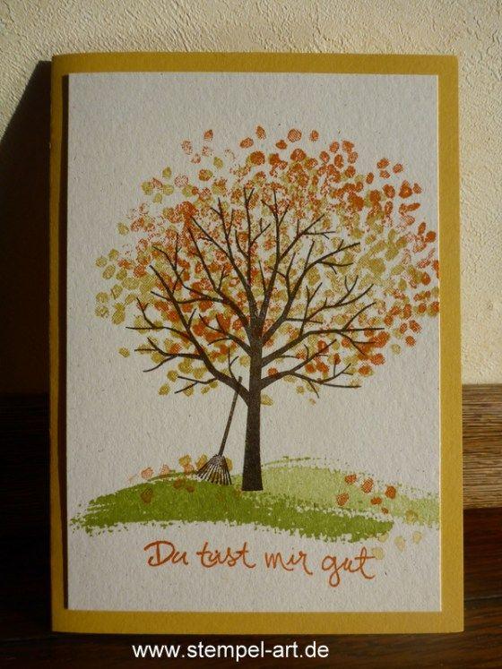 Stampin Up Baum Der Freundschaft Nach Stempelart Tree Cards Stamping Up Sheltering Tree
