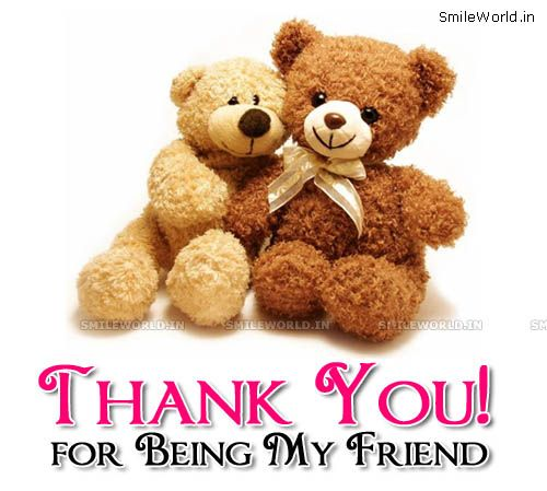 Risultati immagini per thank you for friendship