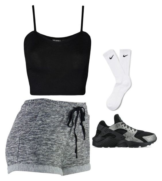 """""""Bum Days"""" by miyanaaa ❤ liked on Polyvore featuring WearAll and NIKE"""