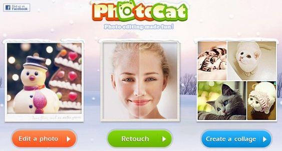 PhotoCat nos ofrece una versión web y una aplicación para iPhone. Con PhotoCat podemos editar fotos, mejorar nuestras fotografías o realizar montajes. Una vez retocadas nuestras fotos, podemos guardarlas en nuestro ordenador en formato jpg o png. Tambien tenemos la opción de realizar mosaicos de forma fácil y sencilla.