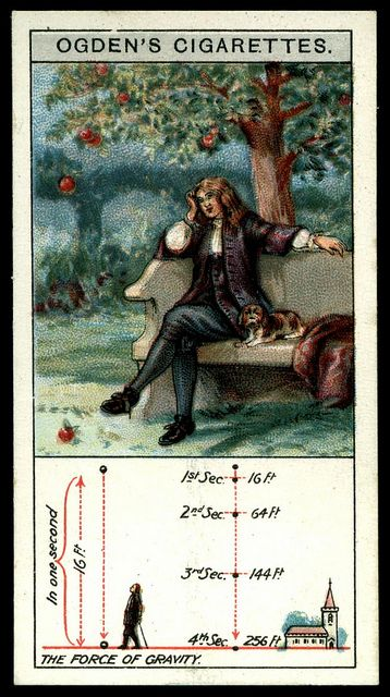 Cigarette Card - The Force of Gavity by cigcardpix, via Flickr: