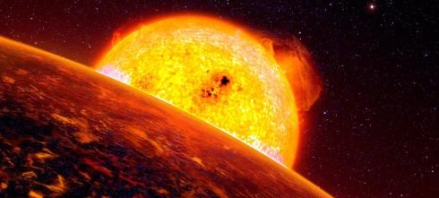 Kosmische Energie Panorama Leinwand