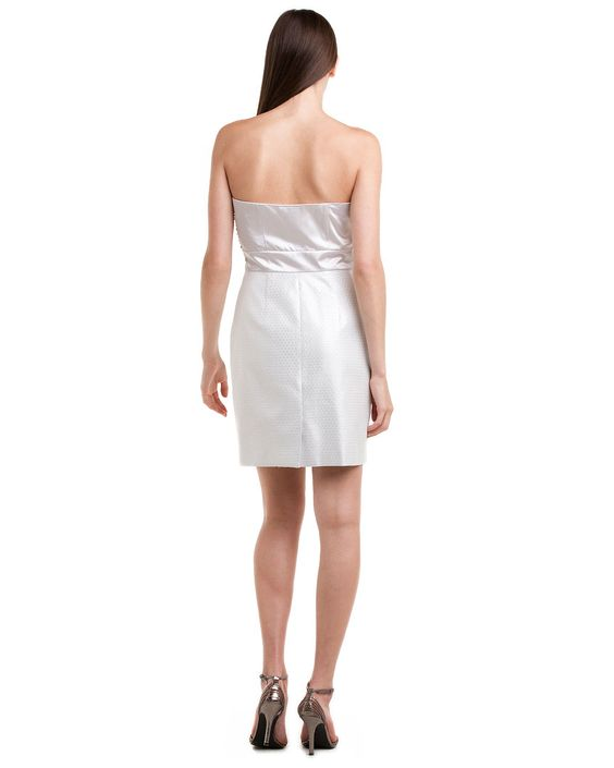 laundry by Shelli Segal Silver Embellished Strapless Dress