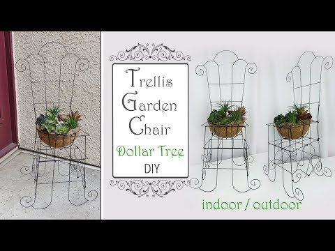 Dollar Tree Trellis Garden Chair Diy Garden Diy Patio Decor