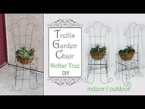 Dollar Tree Trellis Garden Chair Diy Garden Diy Patio Decor Diy Youtube Diy Patio Diy Patio Decor Garden Chairs