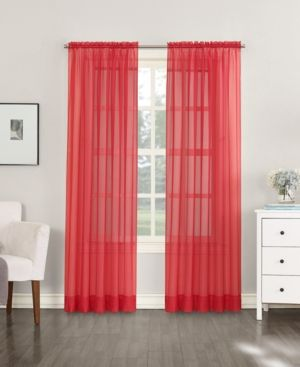 No 918 Sheer Voile 59 X 95 Rod Pocket Top Curtain Panel Reviews Window Treatments Blinds Macy S Panel Curtains Curtains Colorful Curtains