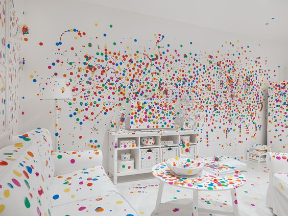 obliteration room yayoi kusama david zwirner give me love new york