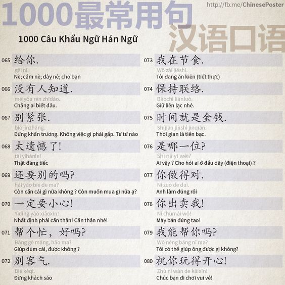 1000 Chinese Sentences In Daily Life Part 5