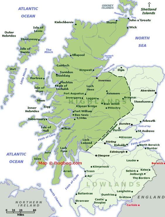 Scotland Map with tourist destinations linking to Scotland – Scotland Tourist Map