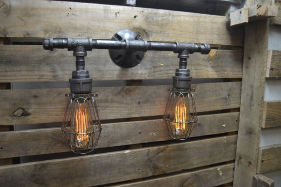 Industrial Vanity - Industrial Furniture - Vanity lighting - Bathroom Vanity Lighting ...