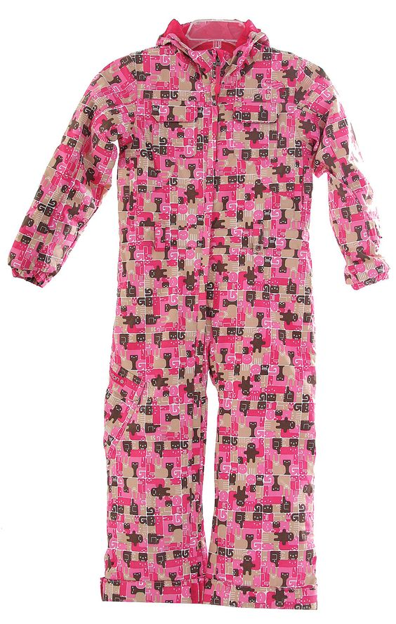 Burton Mini Rocker 1pc Snowsuit Chicklet Print - Girls