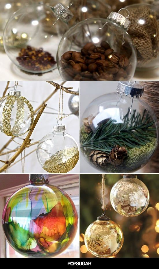 24 Diy Glass Ball Ornaments To Make Your Tree A Wintry Wonder Diy Christmas Ball Glass Ornaments Diy Clear Christmas Ornaments