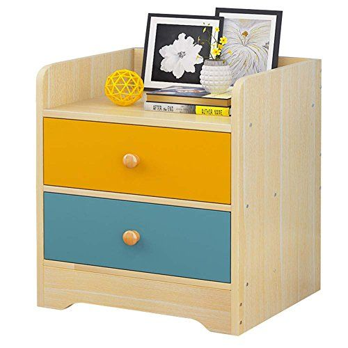 Nightstand With Drawer And Shelf Wood Based Panel Storage Bedroom