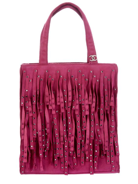 CHANEL VINTAGE - Bolsa Vintage Rosa.