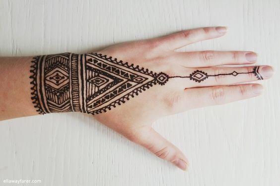 DIY Native Tribal Henna Tattoo + hilfreiche Tipps zum Henna selbermachen  ellawayfarer.com #henna #diy #hennadesign
