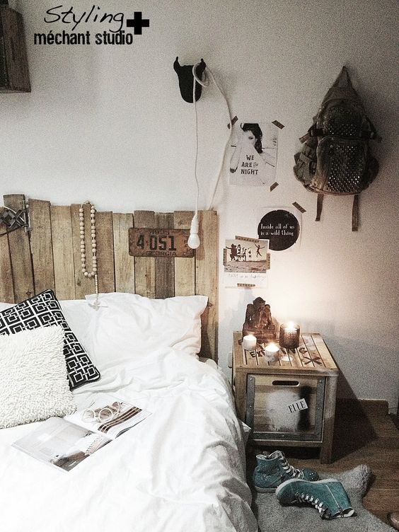 Such an awesome rustic bedroom design! I want our room to feel/look like this!! :)