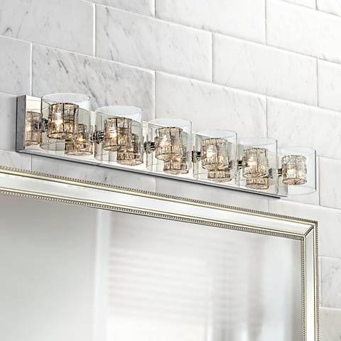 Possini Euro Wrapped Wire 47 3 4 Wide, Possini Bathroom Lighting