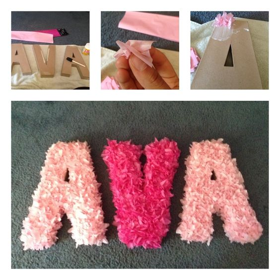 Tissue paper crafts tissue paper and paper crafts on for Baby shower craft decoration ideas