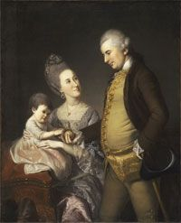 Philadelphia Museum of Art - Collections Object : Portrait of John and Elizabeth Lloyd Cadwalader and their Daughter Anne by Charles Willson Peale (Philadelphia Museum of Art, Philadelphia, PA, USA)
