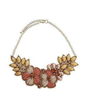 Collar babero de flores de ASOS