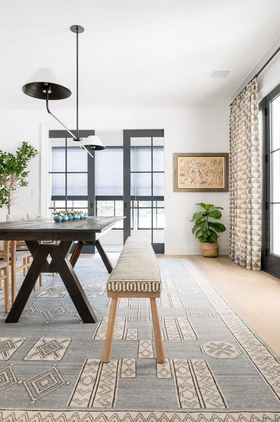 modern neutral dining room | house tour on coco kelley