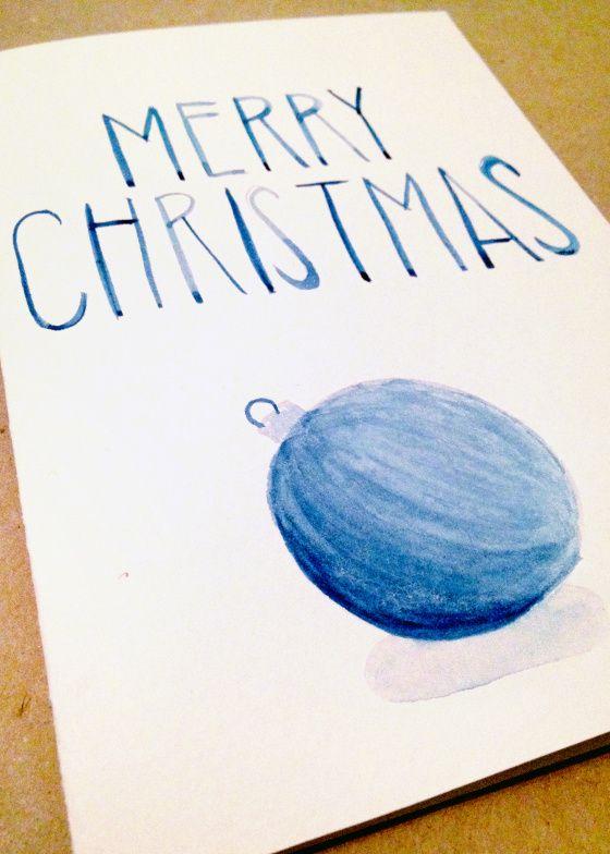 Watercolor Christmas Card | Caroline Claire Design