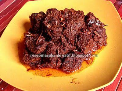 Resep Rendang Daging Padang Bumbu Kering Resep Masakan Indonesia Indonesian Food Recipe Resep Masakan Indonesia Makanan Resep Masakan